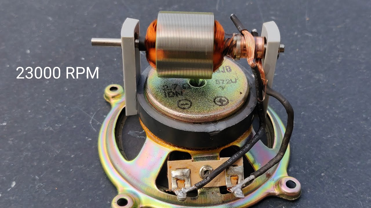 23000 RPM High Speed Mini Motor Using Speaker