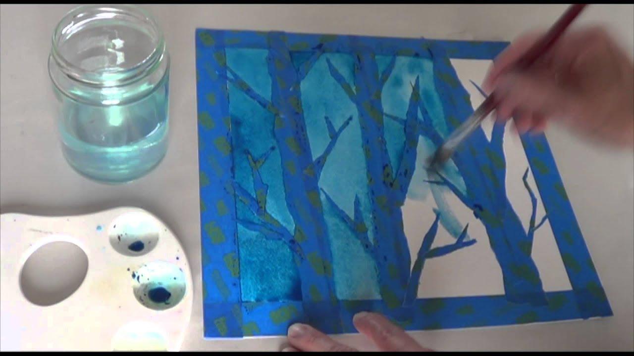 Winter Birch Tree Art Project CornelsenL