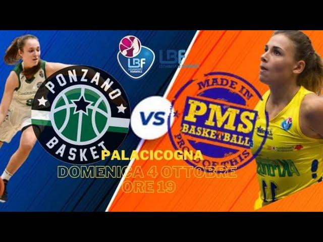 PONZANO BASKET vs PMS BASKETBALL Moncalieri - Ponzano ore 19.00