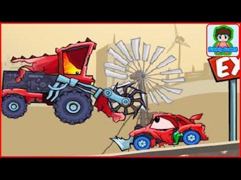 Хищные машинки 2 Car Eats Car 2 Красная тачка ест машинку мультик игра от Фаника