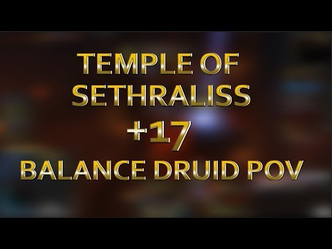 Temple of Sethraliss +17 - DH TANK! - Balance Druid PoV - Tyrannical, Raging, Volcanic, Reaping