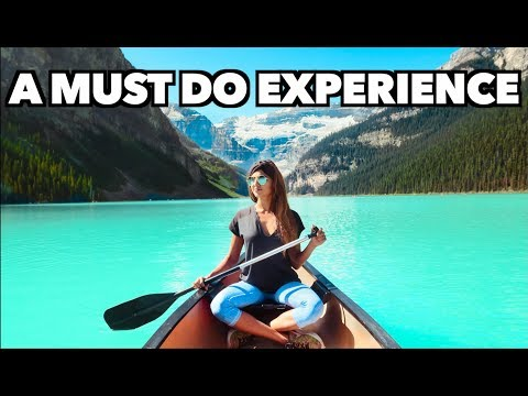 LAKE LOUISE CANOE EXPERIENCE + JOHNSON CANYON BANFF ALBERTA CANADA (BEST THINGS TO DO IN BANFF)