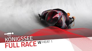 Königssee | BMW IBSF World Cup 2020/2021 - Women's Skeleton Heat 1 | IBSF Official