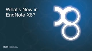 What's New in EndNote X8? thumbnail