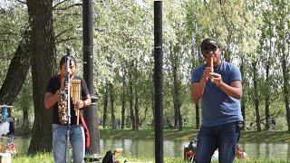 OTAVALOS INDIAN'S  в парке Победы в СПБ!Невыразимо прекрасная мелодия и жизнь вокруг.