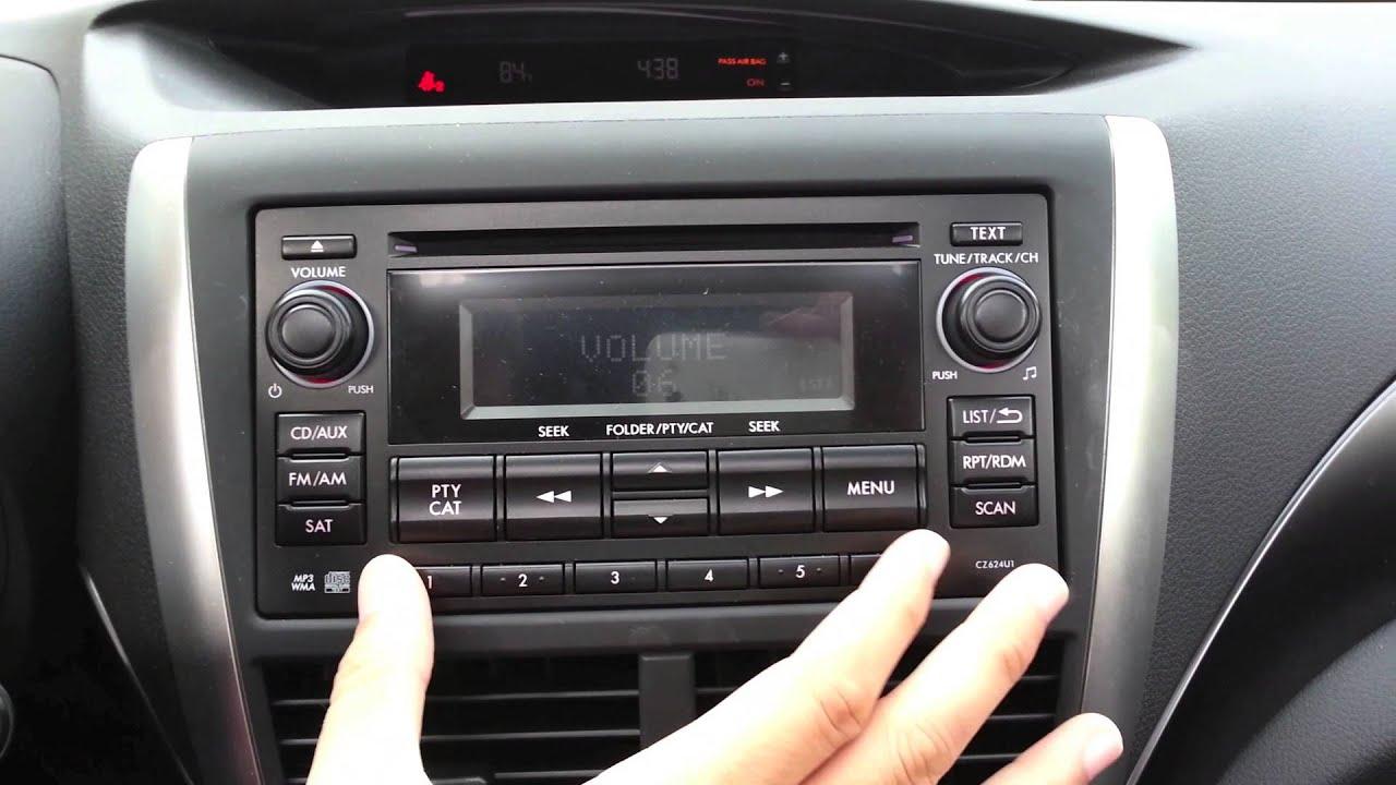 Subaru Stereo Hidden Menu Tweaks And Optimization Youtube