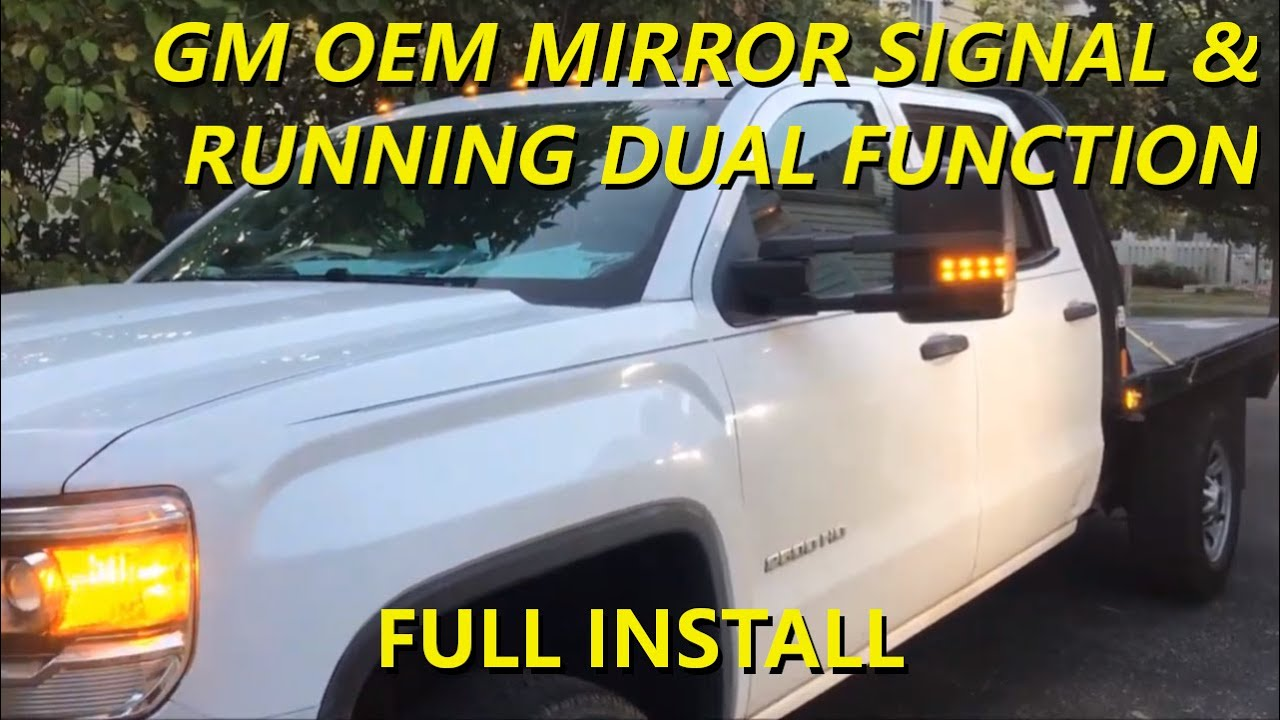 Upgrade Oem Mirrors To Dual Function Running Signal Silverado 55 Chevy Turn Wiring Sierra