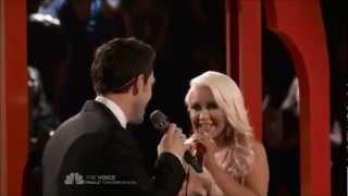 Christina Aguilera and Chris Mann: