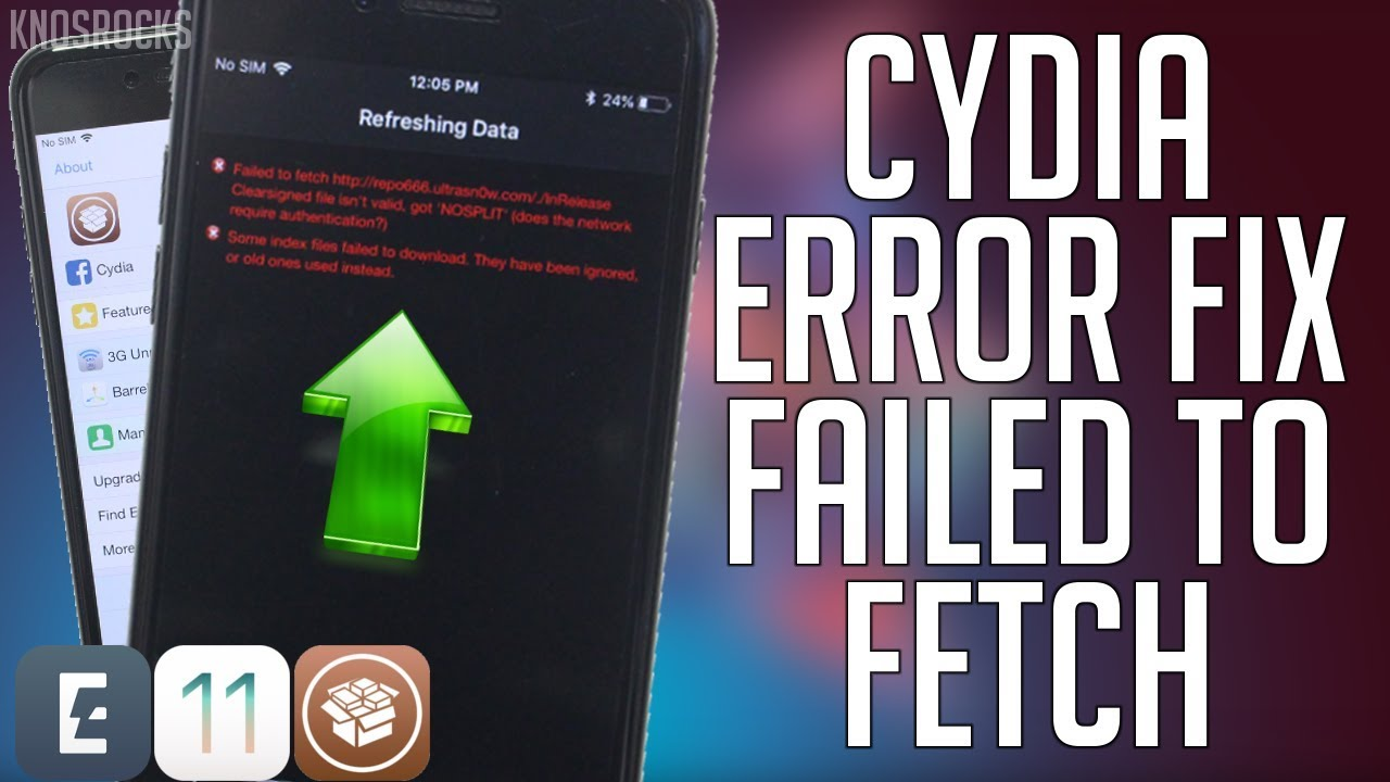 How to fix cydia error failed to fetch & index files ios 11 11. 3.