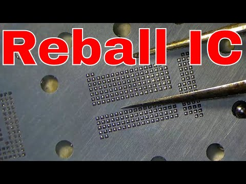 How To Reball Ic  Emmc | Bga 221 Reballing Emmc Mi Emmc Reball  |