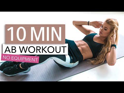 10 MIN AB WORKOUT // No Equipment | Pamela Reif