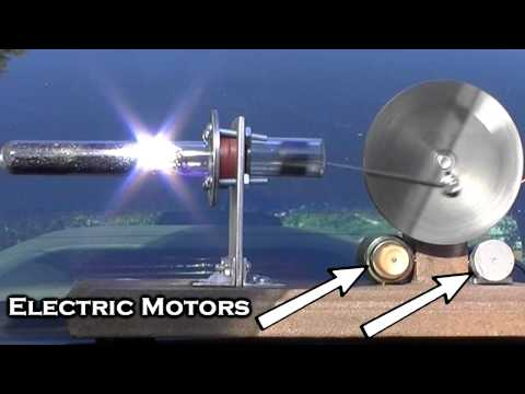 Solar Powered Stirling Like Engine