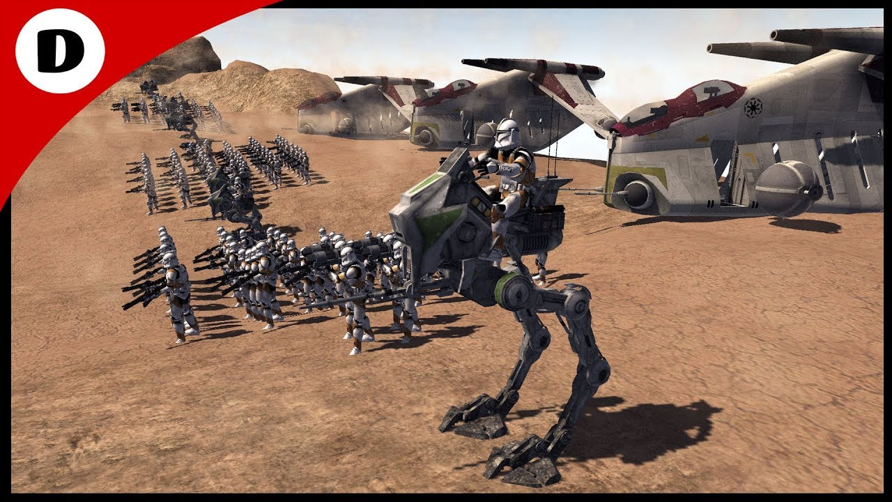 THE FIRST BATTLE OF GEONOSIS - Men Of War: Star Wars Mod ...