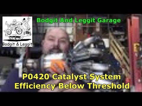 P0420 TOYOTA Catalyst System Efficiency Below Threshold Bank 1 Bodgit And Leggit Garage