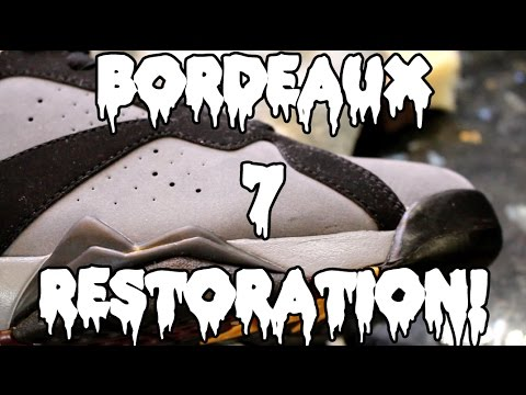 532dfaa7b4befa Channel Feature  18  Air Jordan Bordeaux 7 Restoration  Pizzo - YouTube