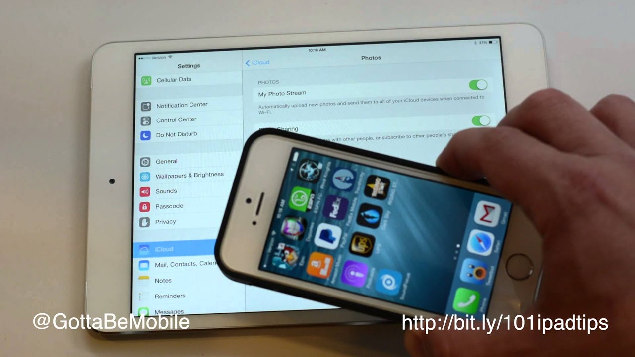 sync ipad iphone