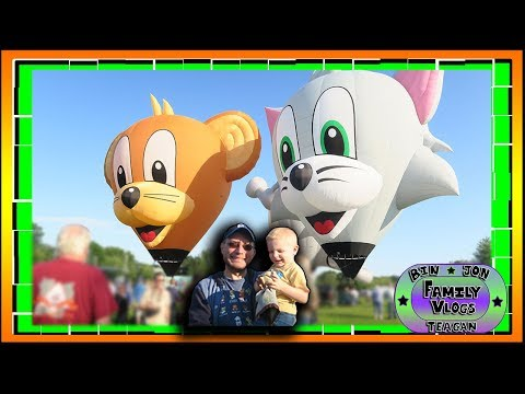 Tom & Jerry Hot Air Balloons | Balloon Festival 2017 | 8.20.2017 | Bin and Jon's Daily Vlogs