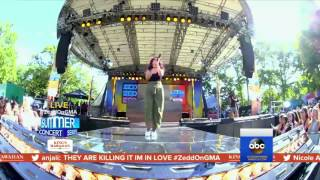 Zedd and Alessia Cara - 'Stay' Central Park live on 'GMA'