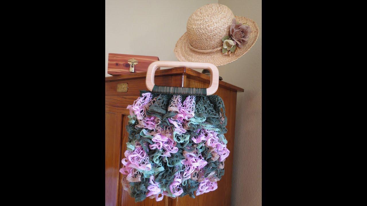 Crochet Mesh Yarn Ruffled Fabric Youtube