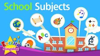 Kids vocabulary - School Subjects - favorite subject - English educational video
