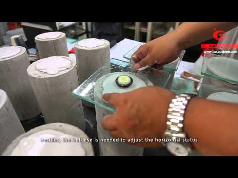 Gypsum Capping Instruction - Concrete cylinder compressive strength test by CAPSTONE (ASTM C617)