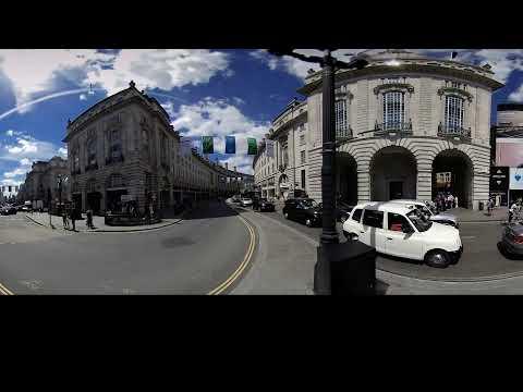 Улицы Лондона 360° 4K VR 3D видео для очков виртуальной реальности 360 TB