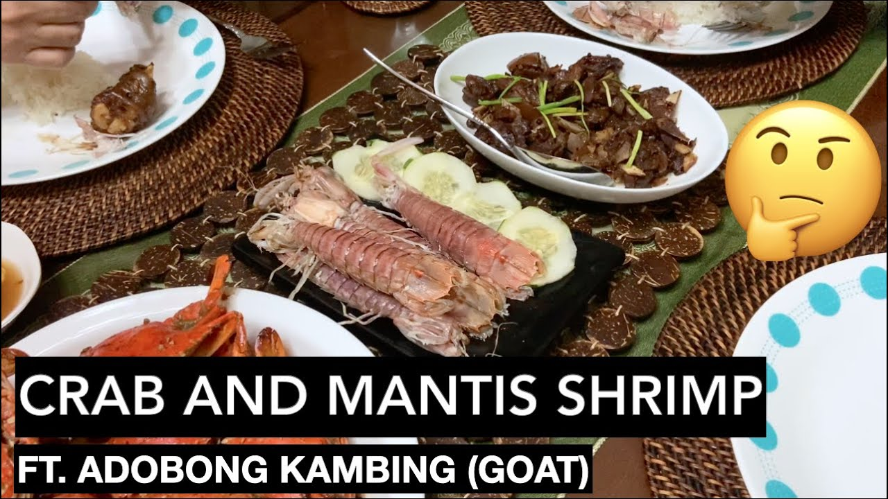 Download MUKBANG: Crab, Mantis Shrimp, with Adobong Kambing (Goat) • How to eat alupihang dagat aka Tatampal