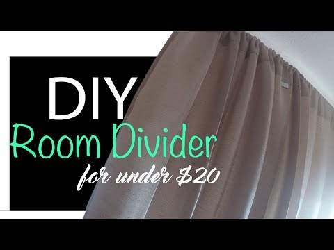 Easy DIY Room Divider | Under $20 dollars!