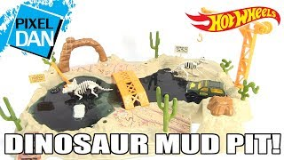 Hot Wheels Dinosaur Mud Pit Slime Playset Video Review