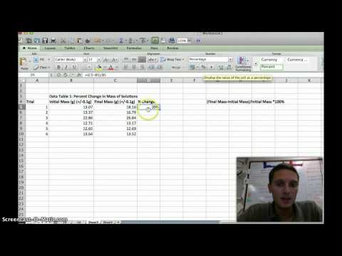 Calculate Percent Change in Excel