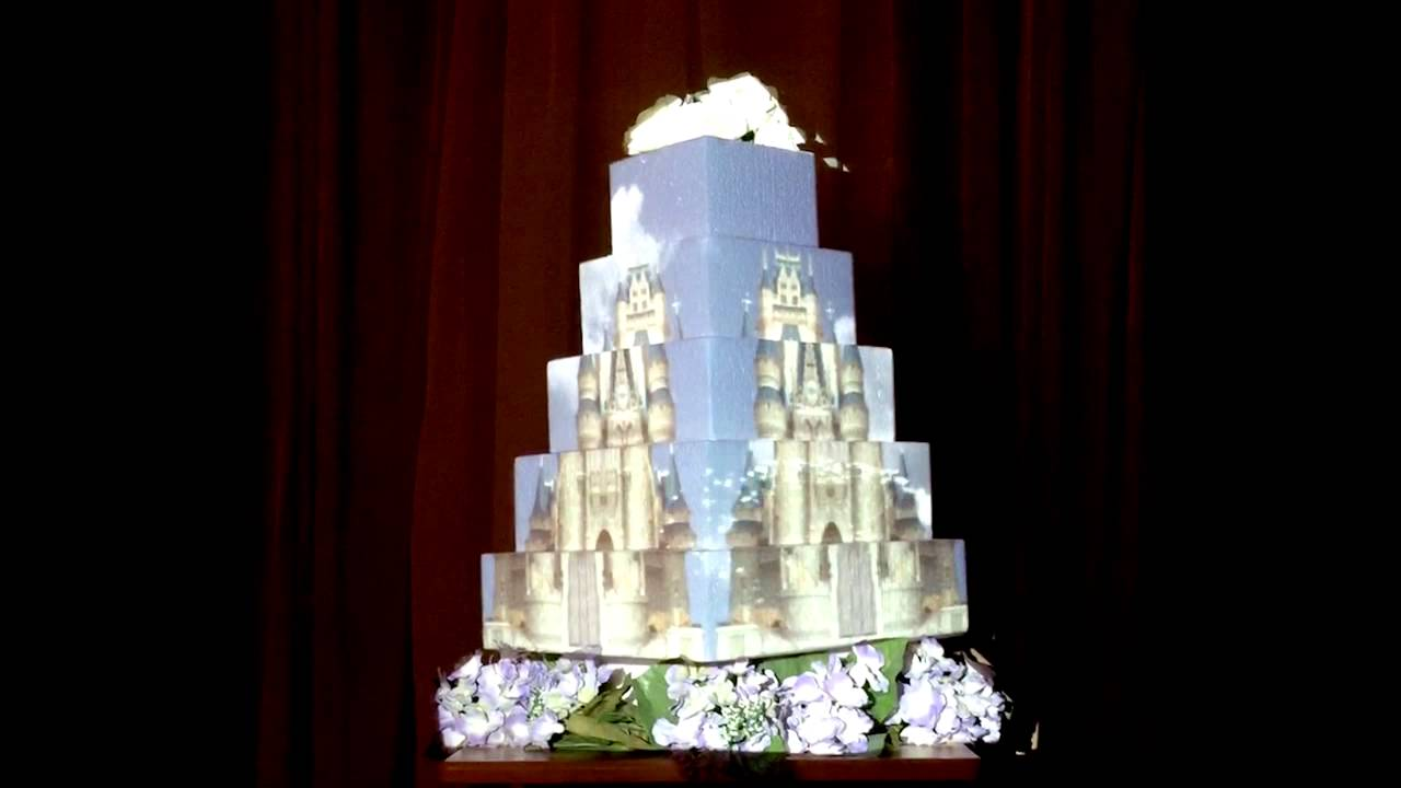 D Mapping Wedding Cake