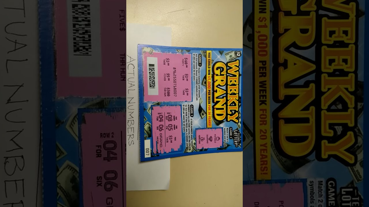 Weekly grand tx lottery
