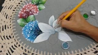 Roberto Ferreira – ( Inédito) Pintura Lírio em tecido emborrachado Part 2