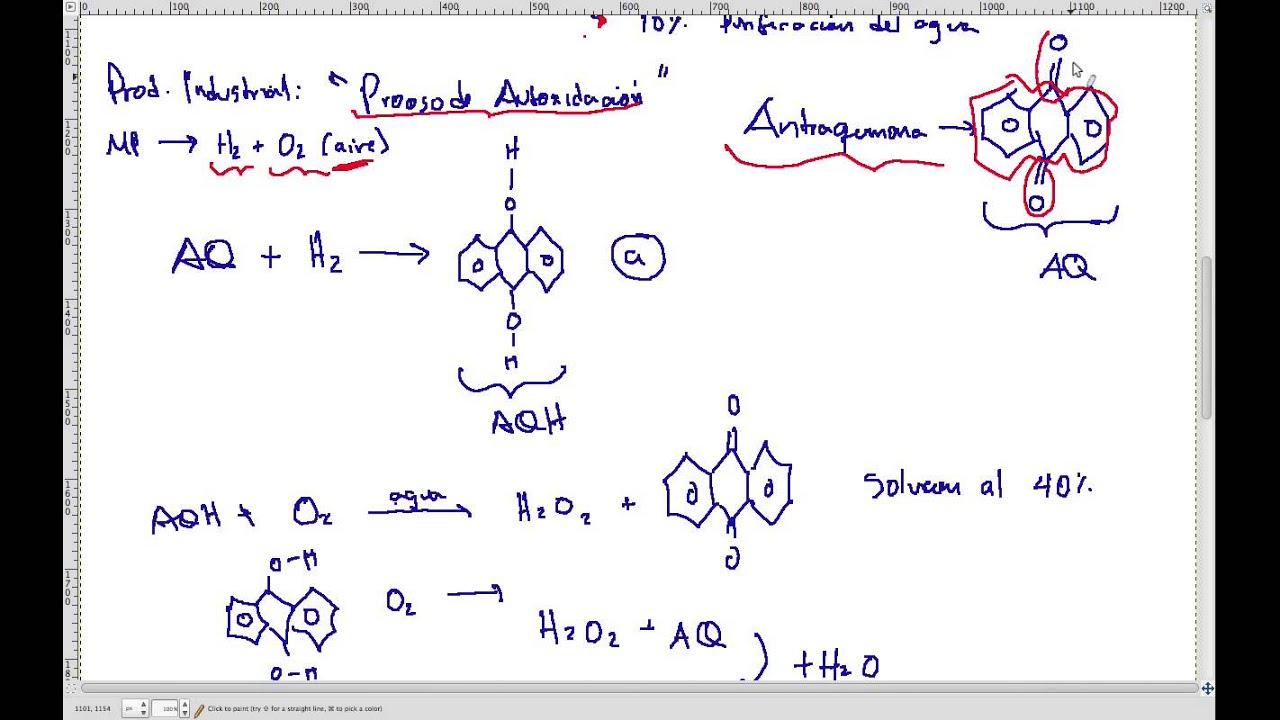 Producción De Peróxido De Hidrógeno H2o2 Agua Oxigenada Youtube