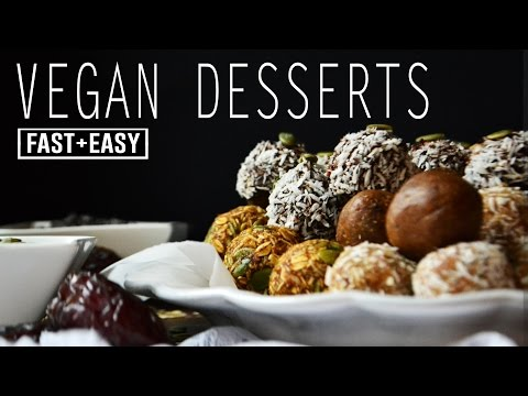 HEALTHY VEGAN DESSERTS | 4 IDEAS in 4 MINUTES