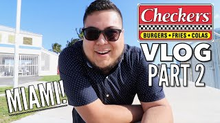 Filming a Checker's Commercial in Miami! - Part 2 - Full Nelson VLOGS