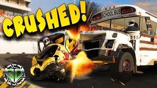 BUS CRUSHED  : Next Car Game: Wreckfest Gameplay : Races & Wrecks
