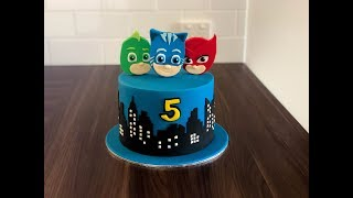 How to make a PJ Masks Cake ? (5 mins)  Irma&#39s fondant cakes