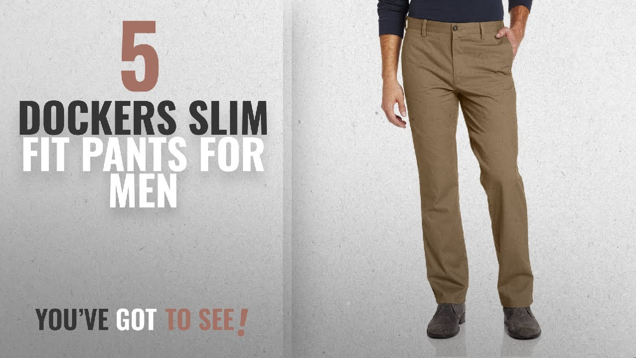 f3931b47d10c5 Top 10 Dockers Slim Fit Pants [2018 ]: Dockers Men's Easy Khaki D1 Slim-Fit  Flat-Front Pant, New