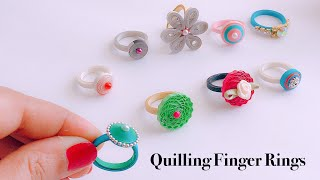 How To Make Quilling Finger Ring||simple and easy handmade paper quilling rings