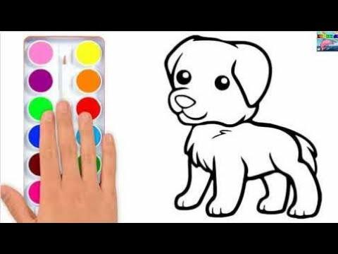 Cara Menggambar Anjing Yang Cantik Menggambar Dan Mewarnai Untuk