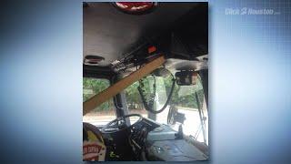 Damaged firefighter equipment, trucks
