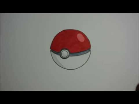 How To Draw An Open Pokeball