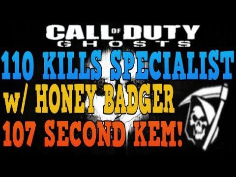 Ghost: 110 Kill Specialist w/ 107 Second KEM!! - Most kills on Warhawk!