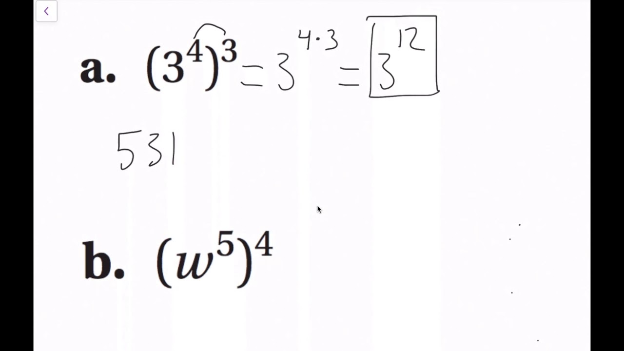 Exponent Properties with Products (8.2 Big Ideas Math