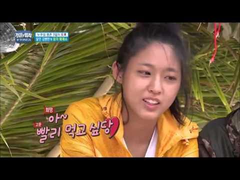 Kim ungman cuting tuna fish side  side  Law Of the Jungle in TONGA ep210