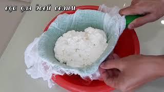Как сварить домашний адыгейский сыр Короткий видео рецепт Ссылку на полное видео найдете в описании