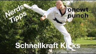 Schnellkraft für Kicks. Schnelle Tritte Kampfsport / Nerds bei One Two Punch Theorie trifft Praxis