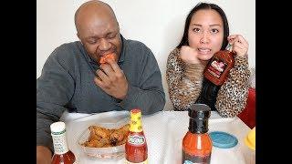 American husband & filipina wife: Hot Wings Challenge
