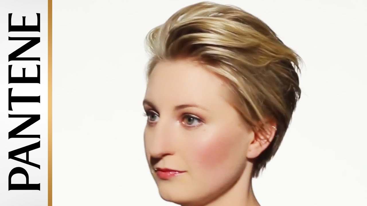 how to style short hair: swept back pixie cut